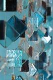 Móbil de vidro decorativo azul Fotos de Stock