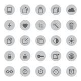 Móbil dos meios e ilustração do vetor dos ícones de uma comunicação Imagem de Stock
