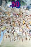 Móbil feito dos vários shell Imagem de Stock