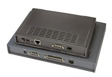 Módem de ADSL en un blanco fotografía de archivo libre de regalías