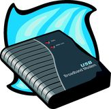Módem de banda ancha del USB Foto de archivo libre de regalías
