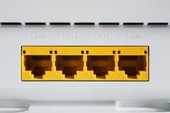 Módem de VDSL, dispositivo combinado para la modulación y desmodulación LAN de los puertos de red fotos de archivo libres de regalías