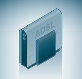 Módem del ADSL Fotografía de archivo libre de regalías