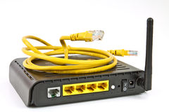 Módem del ADSL fotografía de archivo