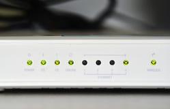 Módem del router del wifi del ADSL Fotos de archivo libres de regalías