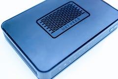 Módem moderno de Netgear para Internet de ADSL o de las fibras ópticas Imagen de archivo libre de regalías