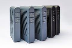 Módems del ADSL Fotografía de archivo