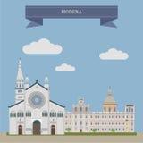 Módena, ciudad en Italia stock de ilustración