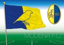 MÓDENA, ITALIA, AÑO 2017 - campeonato del fútbol de Serie B, bandera 2017 del equipo de Módena