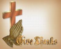 módl się w Święto dziękczynienia ręce ilustracji