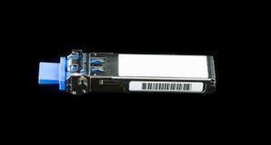 Módulo óptico de SFP del gigabit para el interruptor de red foto de archivo