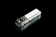 Módulo óptico de SFP del gigabit para el interruptor de red imágenes de archivo libres de regalías