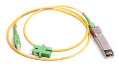 Módulo óptico de SFP del gigabit para la red fotos de archivo