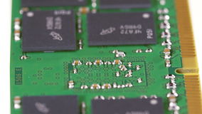 Módulo de la memoria de computadora DDR4 (RAM), macro almacen de metraje de vídeo