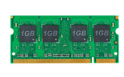 Módulo de la memoria de la computadora portátil (SO-DIMM) Fotos de archivo