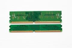 Módulo de RAM no branco imagens de stock royalty free