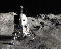 Módulo del aterrizaje lunar de la luna, exploración espacial ilustración del vector