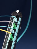 Módulo do divisor de Datacenter com 12 portos e 4 cabos de remendo Imagem de Stock
