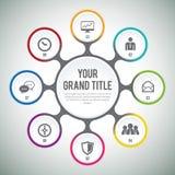 Módulo Infographic do círculo Imagem de Stock