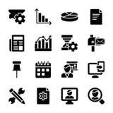 Módulo, sistema de los vectores del Glyph de la presentación stock de ilustración