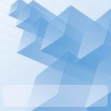 Módulos azules transparentes abstractos Fotos de archivo