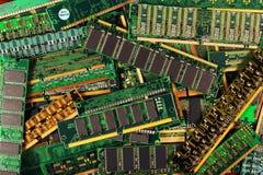 Módulos da memória do computador como o fundo microplaquetas da RDA do sdram do simm do dimm foto de stock royalty free