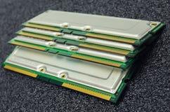 Módulos de la memoria fotos de archivo libres de regalías