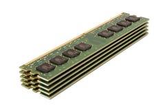 Módulos de la memoria DDR2 Imágenes de archivo libres de regalías