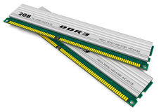 Módulos de la memoria DDR3 Imagen de archivo libre de regalías