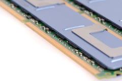 Módulos de la memoria de computadora Fotos de archivo libres de regalías