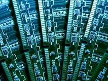Módulos de la memoria de computadora VI Imagen de archivo libre de regalías