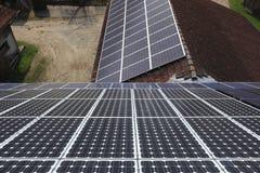 Módulos Photovoltaic Imagem de Stock Royalty Free
