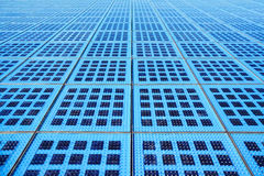 Módulos solares azuis do monumento ao Sun, Zadar, Croácia Imagens de Stock
