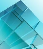 Módulos transparentes abstractos Imagenes de archivo