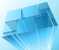 Módulos transparentes abstratos Imagem de Stock