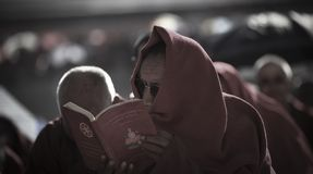 Mój święte pisma w Tybet zdjęcie stock