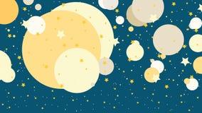 Mój Astronautyczny tło ilustracja - nocne niebo - Fotografia Royalty Free