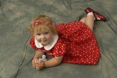 mój córka trochę Obraz Stock