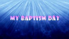 Mój chrzczenie dzień zdjęcie wideo