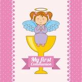 mój communion najpierw Zdjęcie Royalty Free