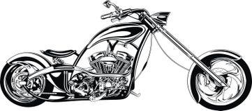 Mój czarny i biały motocyklu projekt ilustracja wektor