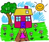 mój dom ilustracji