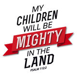 Mój dzieci będą Możni w ziemi Fotografia Royalty Free