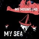 Mój góry i mój morze ilustracji