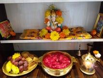 Mój Ganpati na Ganeshpuja patrzeje w ten sposób piękny fotografia stock