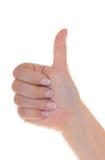Mój gwoździe ręki i bardzo dobrzy są Zdjęcia Royalty Free