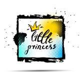 Mój Mały Princess inskrypcja i korona wektor royalty ilustracja