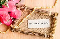 Mój miłość mój życie Fotografia Royalty Free