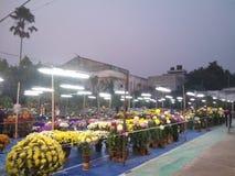 Mój miasta rodzinnego balurghat magiczny moment kwiatu jarmark zdjęcia stock