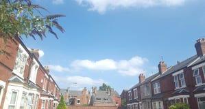 Mój miasteczko na gorącym bueatiful dniu Zdjęcie Royalty Free